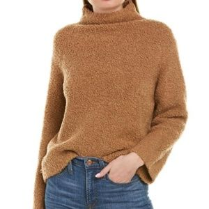 Vince Teddy Funnel Neck Pullover Wool Cashmere